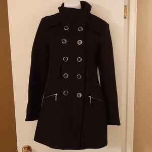 bebe black wool coat